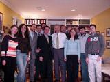 Francesco de Leo con Dom Serafini ad una riunione con alcuni leader della comunitá italiana